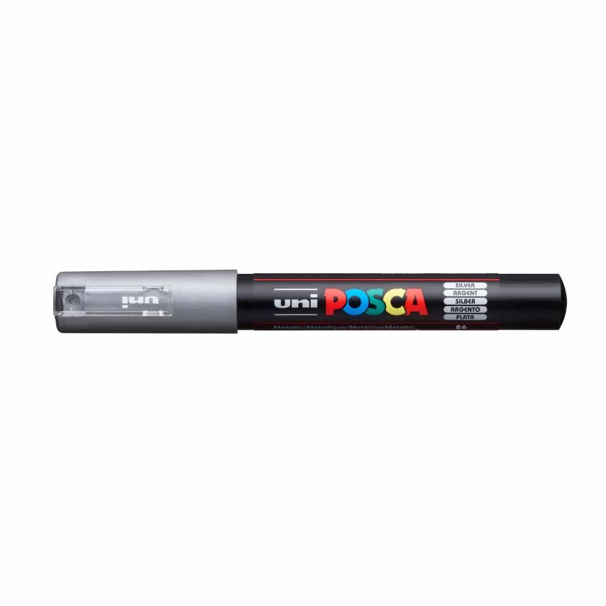 Uni Posca Marker Pen Fine PC-1M 0.7mm Metallic
