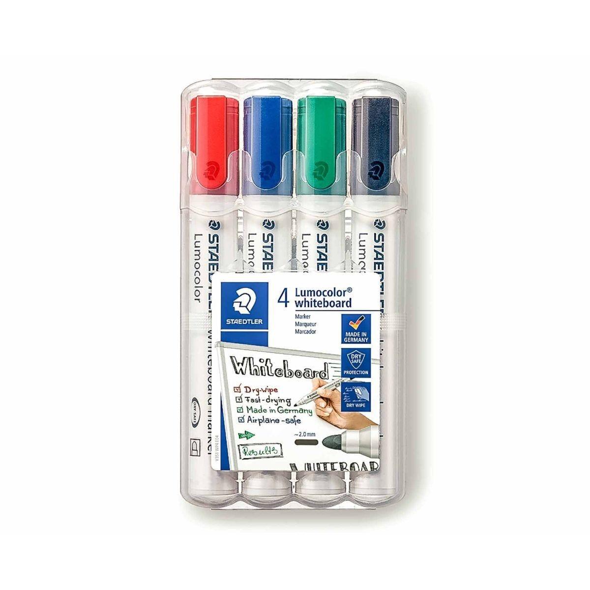 Staedtler Lumocolor Marker Pens Whiteboard 2mm Bullet Tip Pack of 4