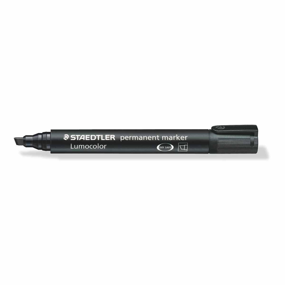 Staedtler Lumocolor 350 Marker Chisel Tip Pack of 10 Black