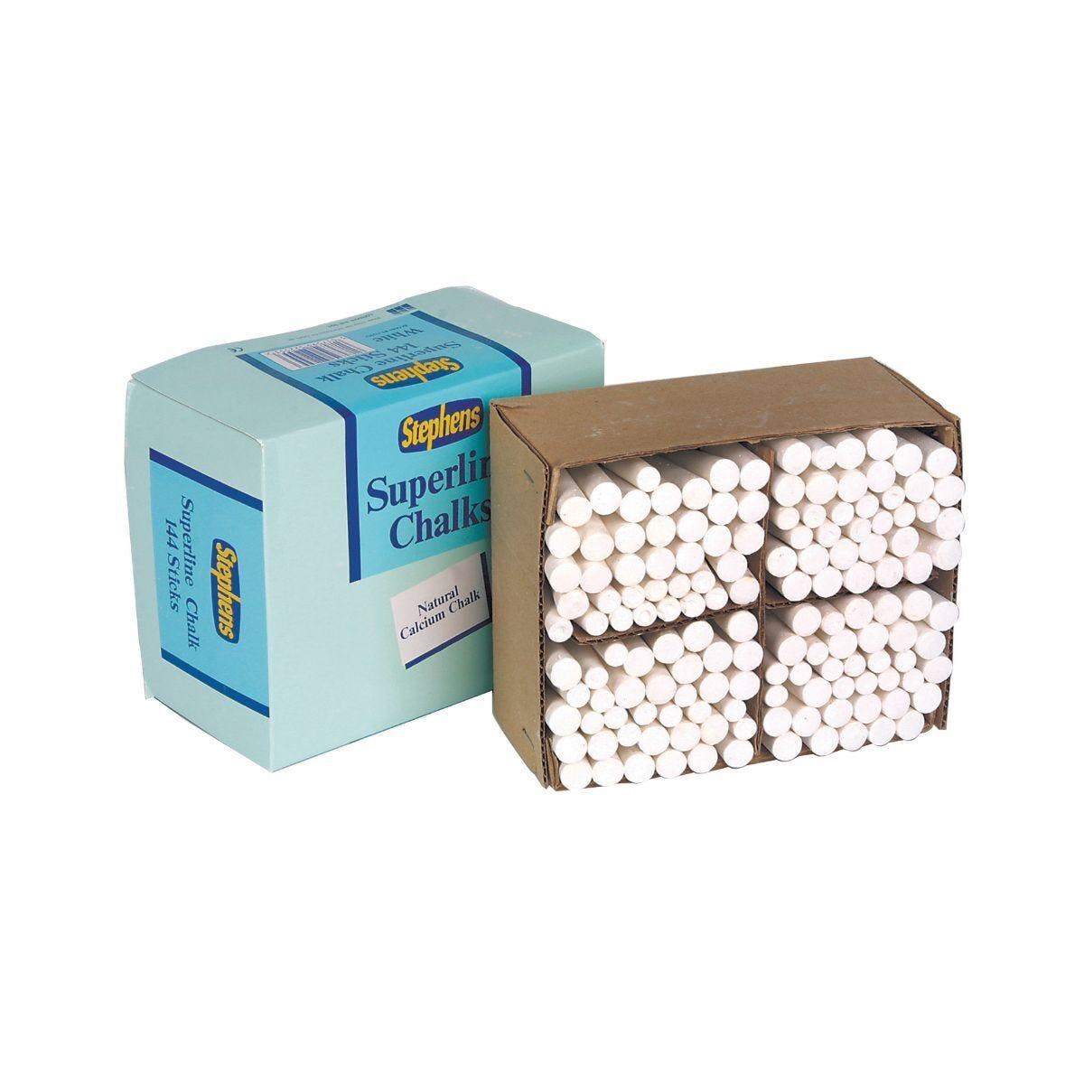Stephens Chalk Sticks Pack of 144 White