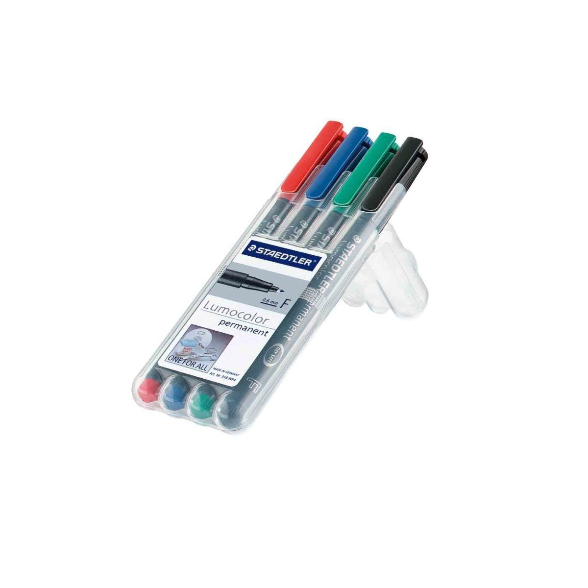Staedtler Lumocolour Non-Permanent Marker Fine Pack of 4 Assorted