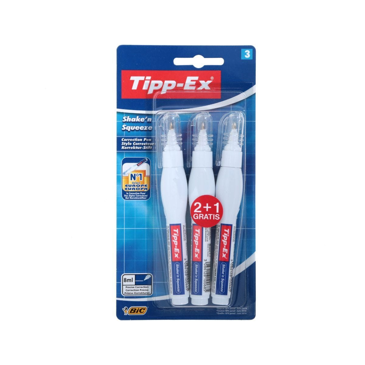 Tipp-Ex Shake n Squeeze Blister Pack of 3