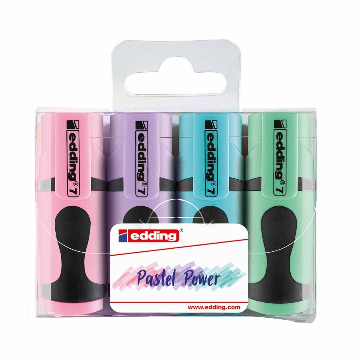Edding Mini Pastel Highlighters Pack of 4 Assorted