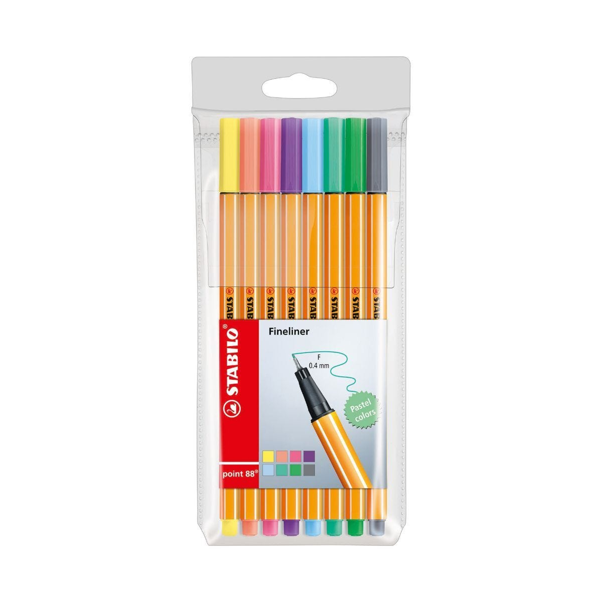 STABILO Point 88 Wallet Pastels Pack of 8