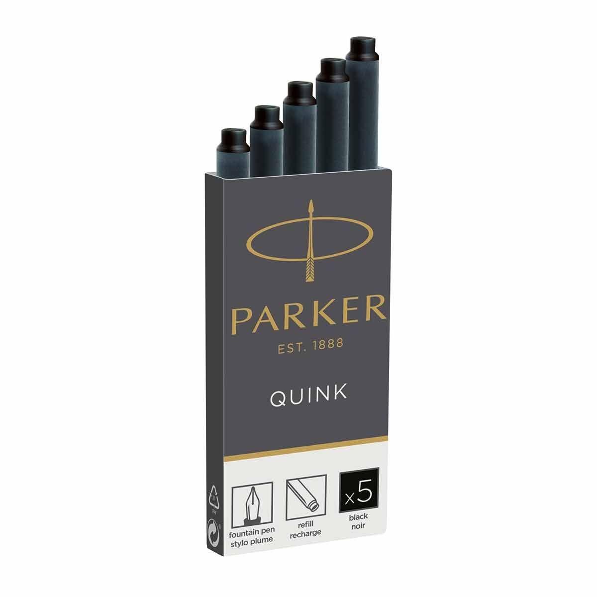 Parker Ink Cartridges Permanent Pack of 5