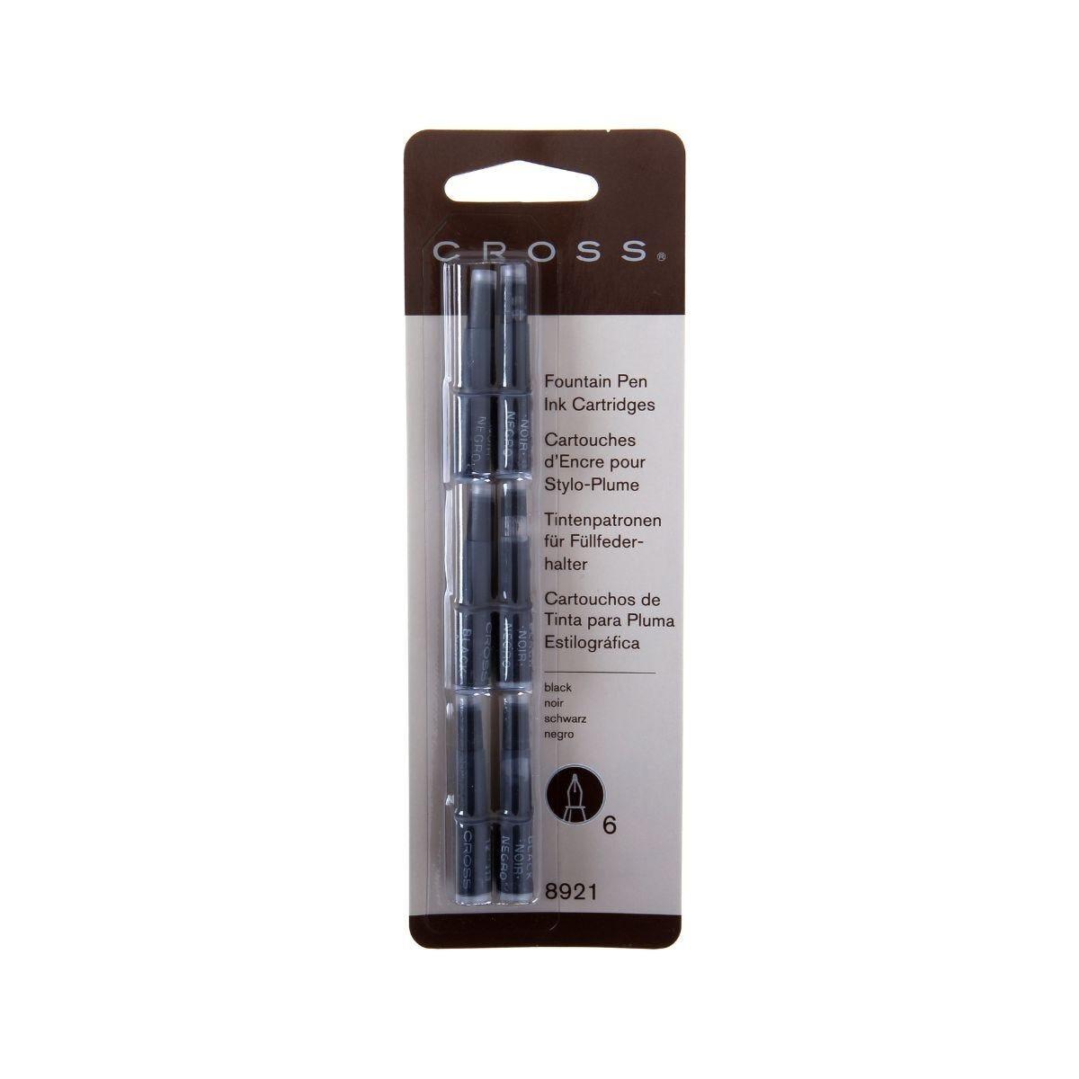 Cross Fountain Pen Ink Cartridges Pack of 6