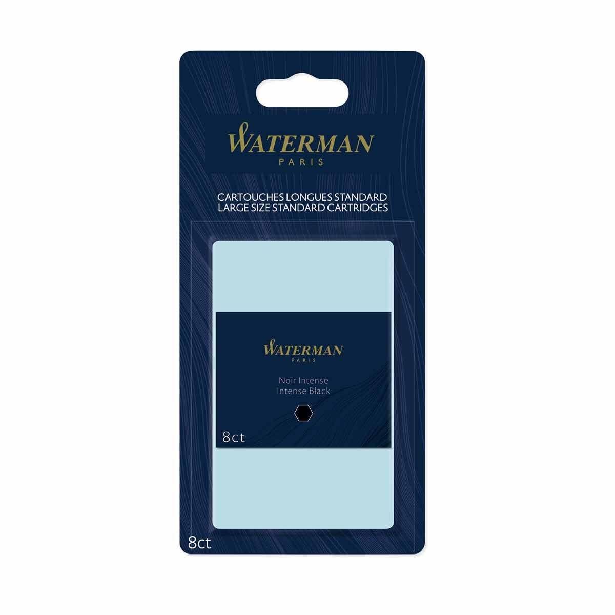 Waterman Ink Cartridges Permanent Pack of 8