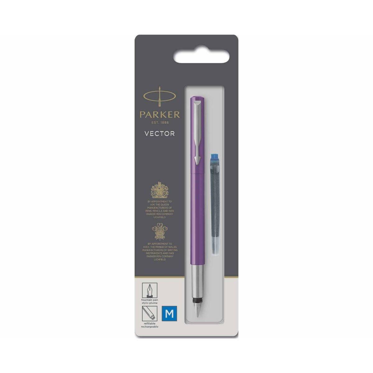 Parker Vector Fountain Pen Medium Purple