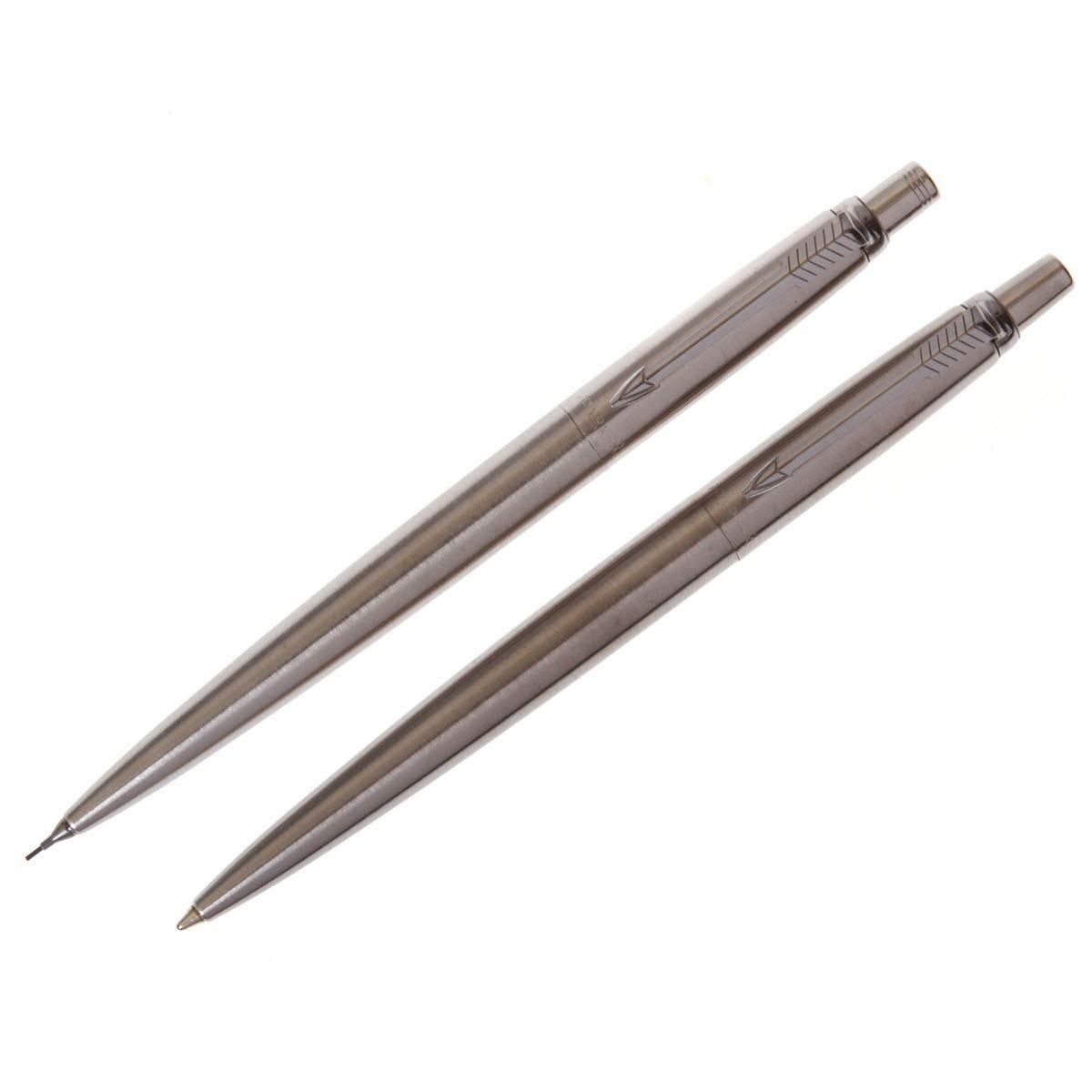 Parker Jotter Pen & Pencil Set Chrome Trim Stainless Steel