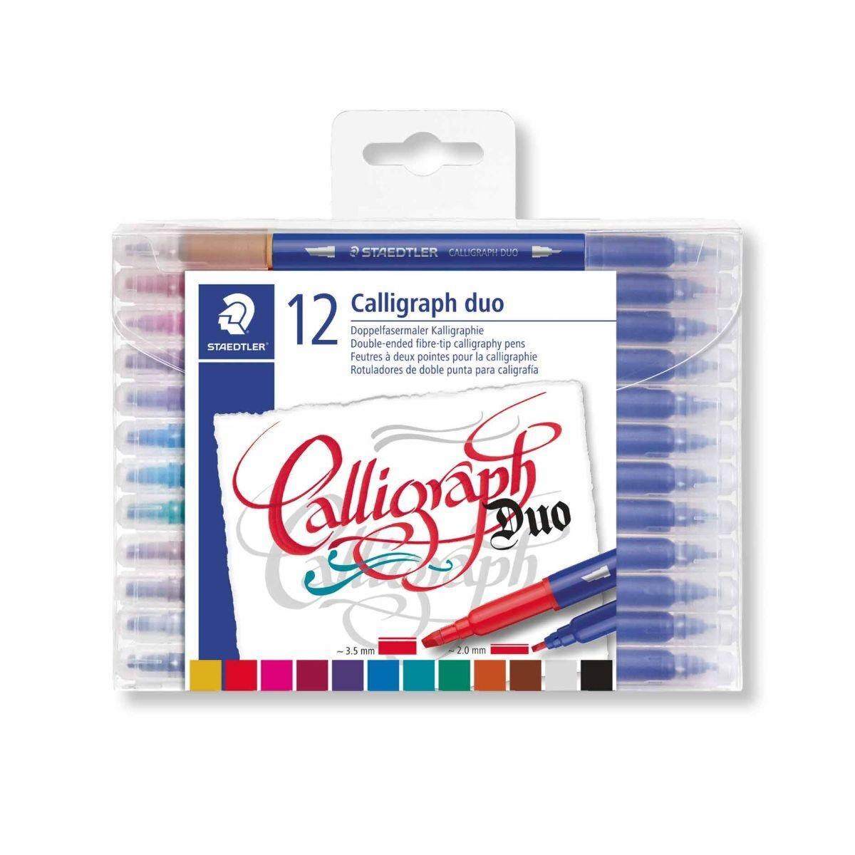 Staedtler Calligraphy Duo Tip Pens Pack of 12