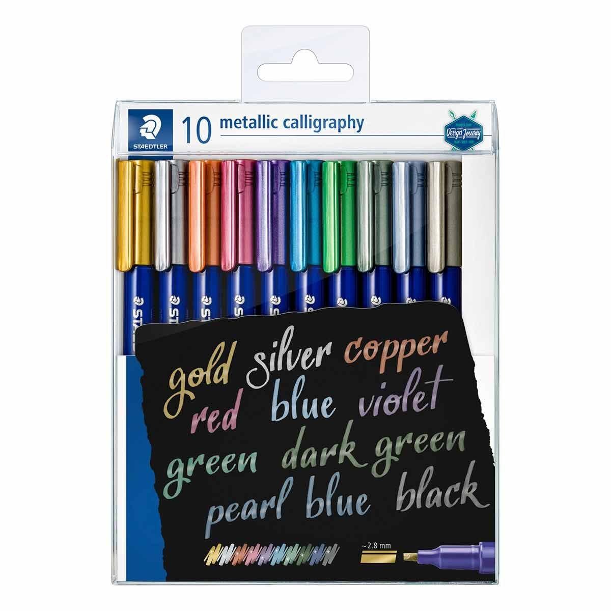 Staedtler Design Journey Metallic Calligraphy Pens Pack of 10