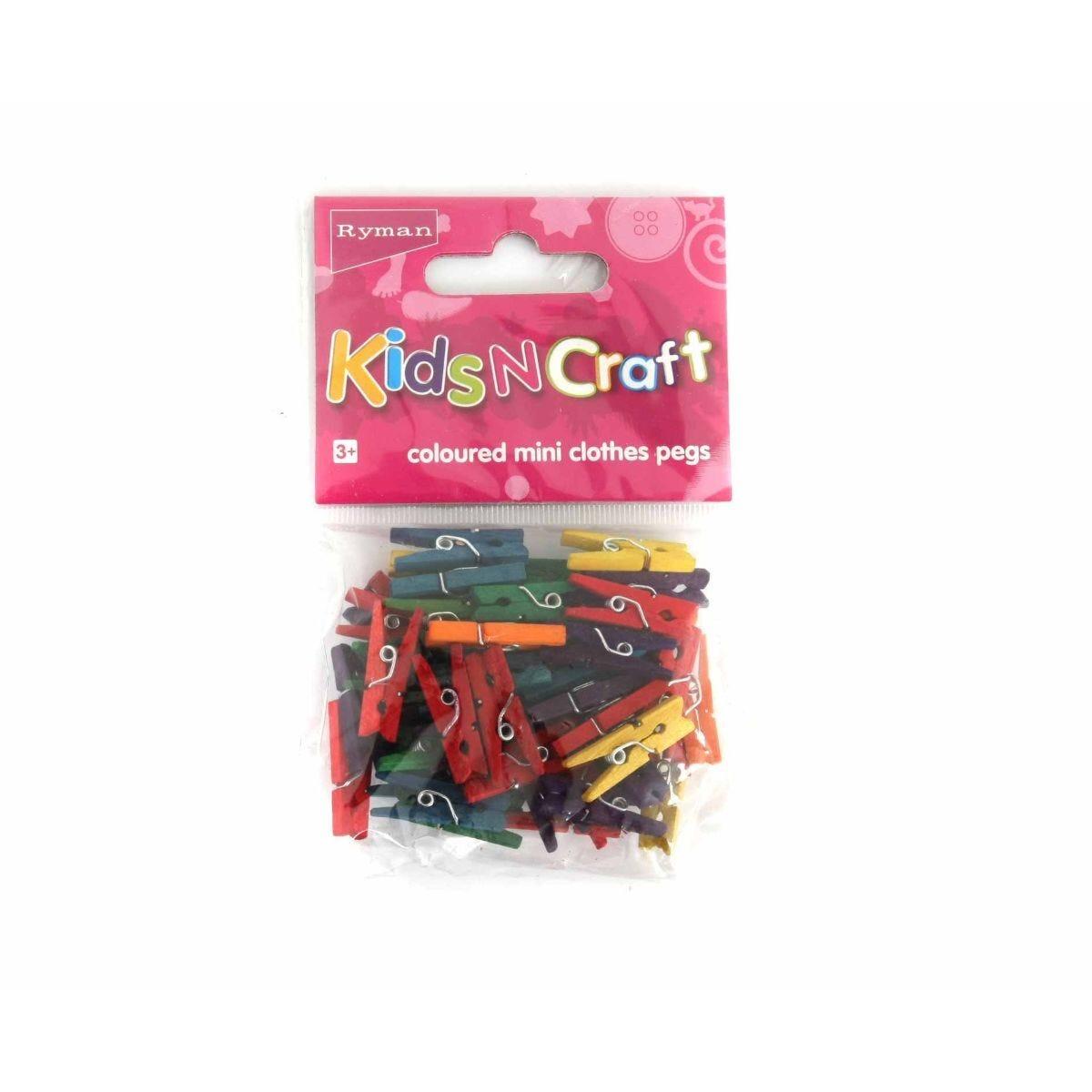 Ryman Activity Kit Mini Assorted Pegs