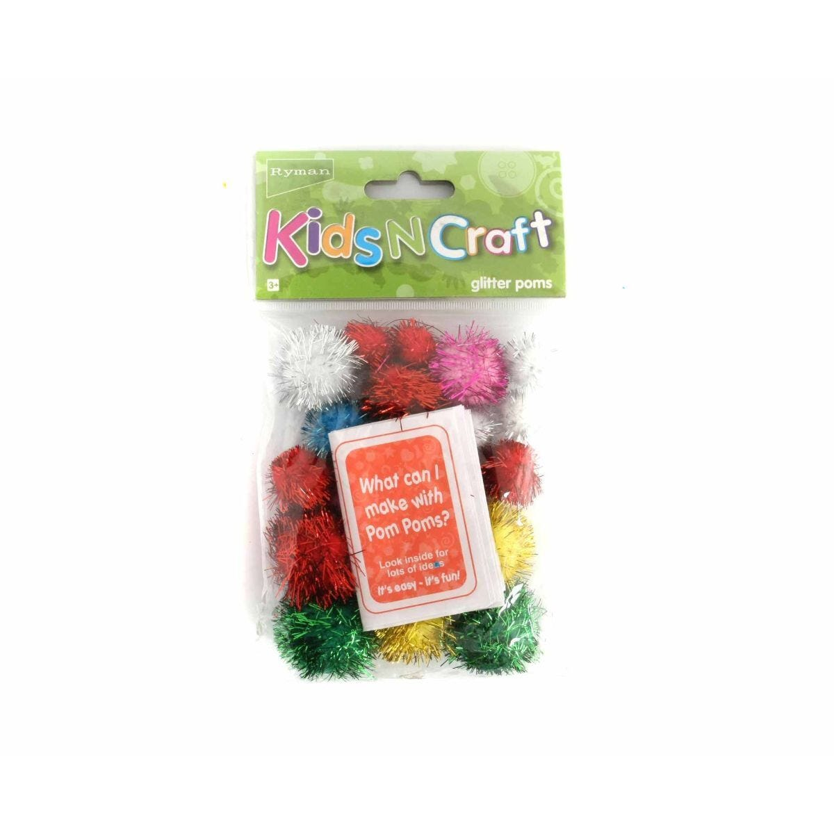 Ryman Activity Kit Glitter Poms