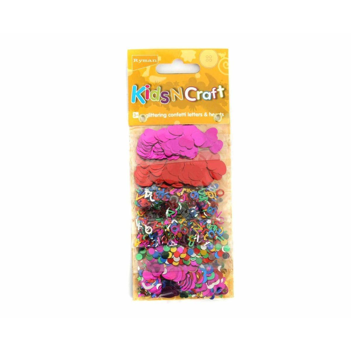 Ryman Kids N Craft Glitter Pieces 6 Designs