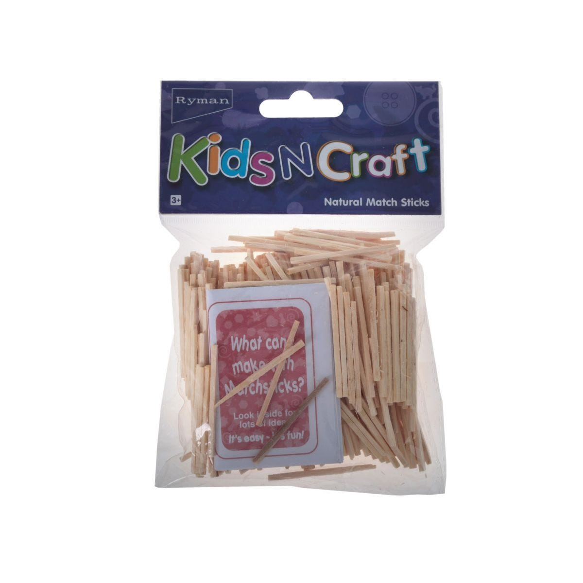 Ryman Activity Kit Match Sticks Natural