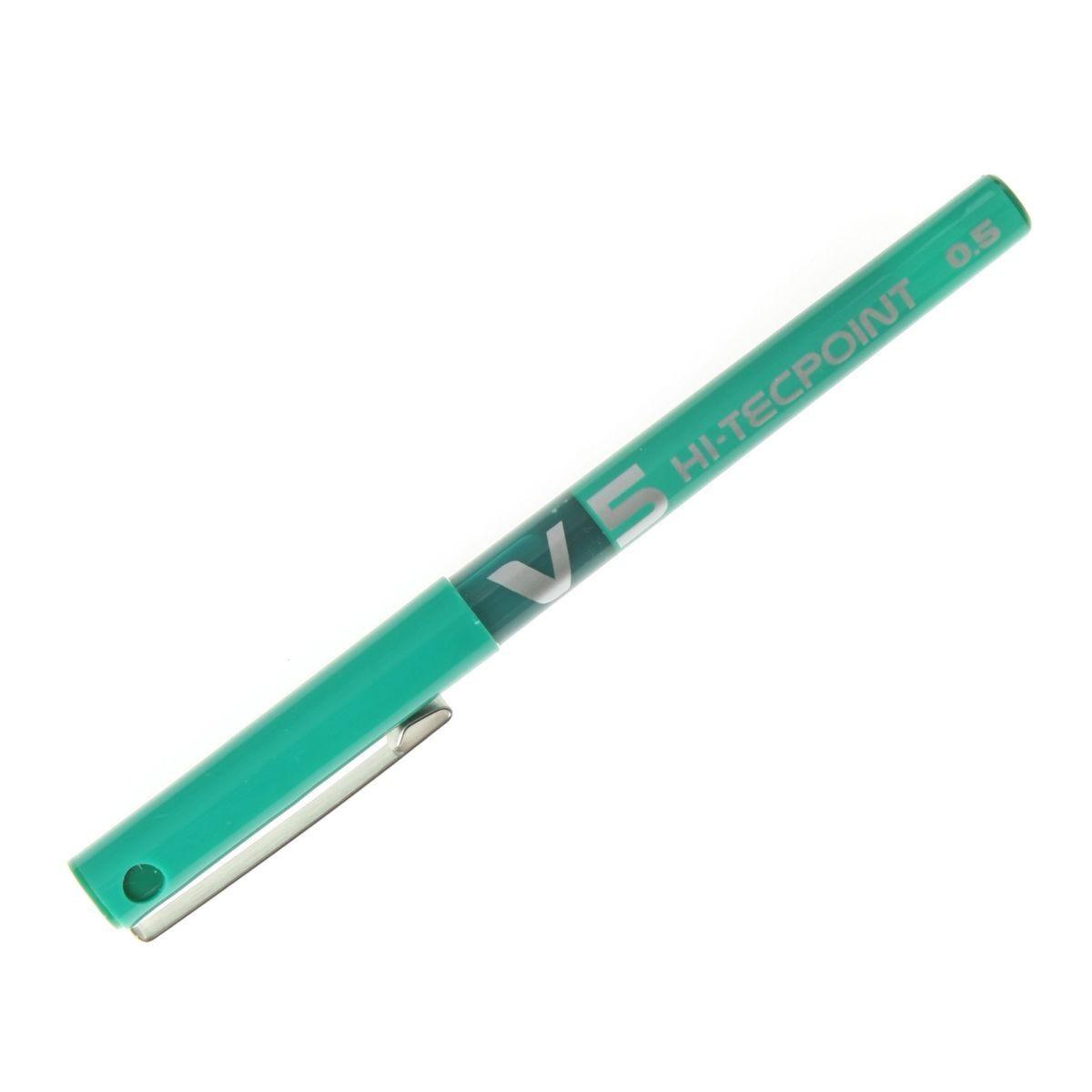 Pilot Hi-Tec V5 Ex Fine Pack 12 Green
