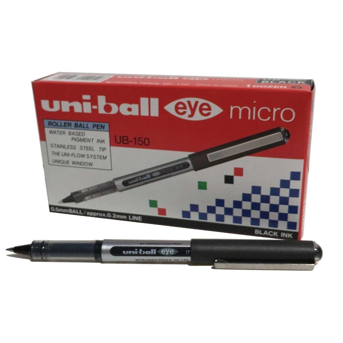 uni-ball UB150 Eye Rollerball Pack of 12 Black