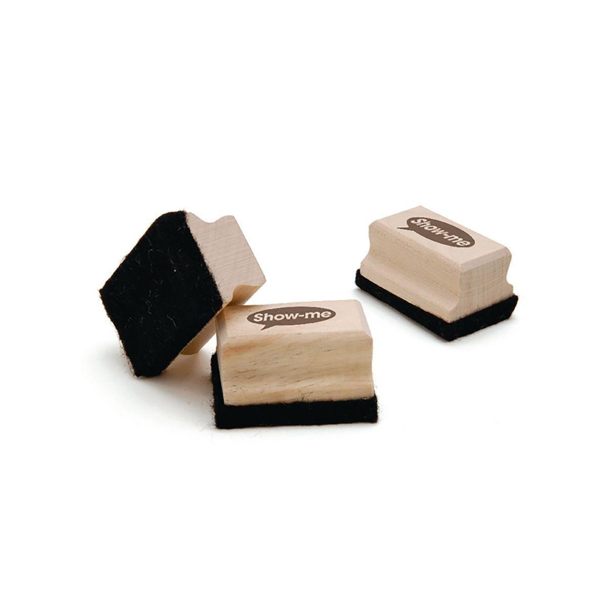 Show-me Wooden Handle Board Eraser Pack of 30