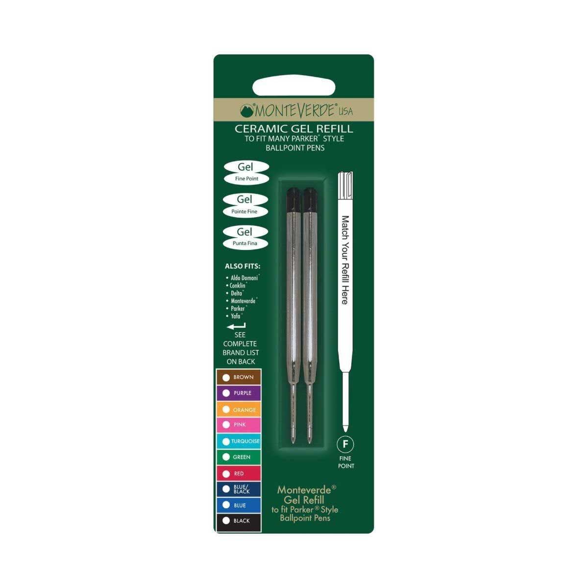 Ceramic Gel Refill Fine Refill to fit Capless 2 Pack Ballpoint Pen