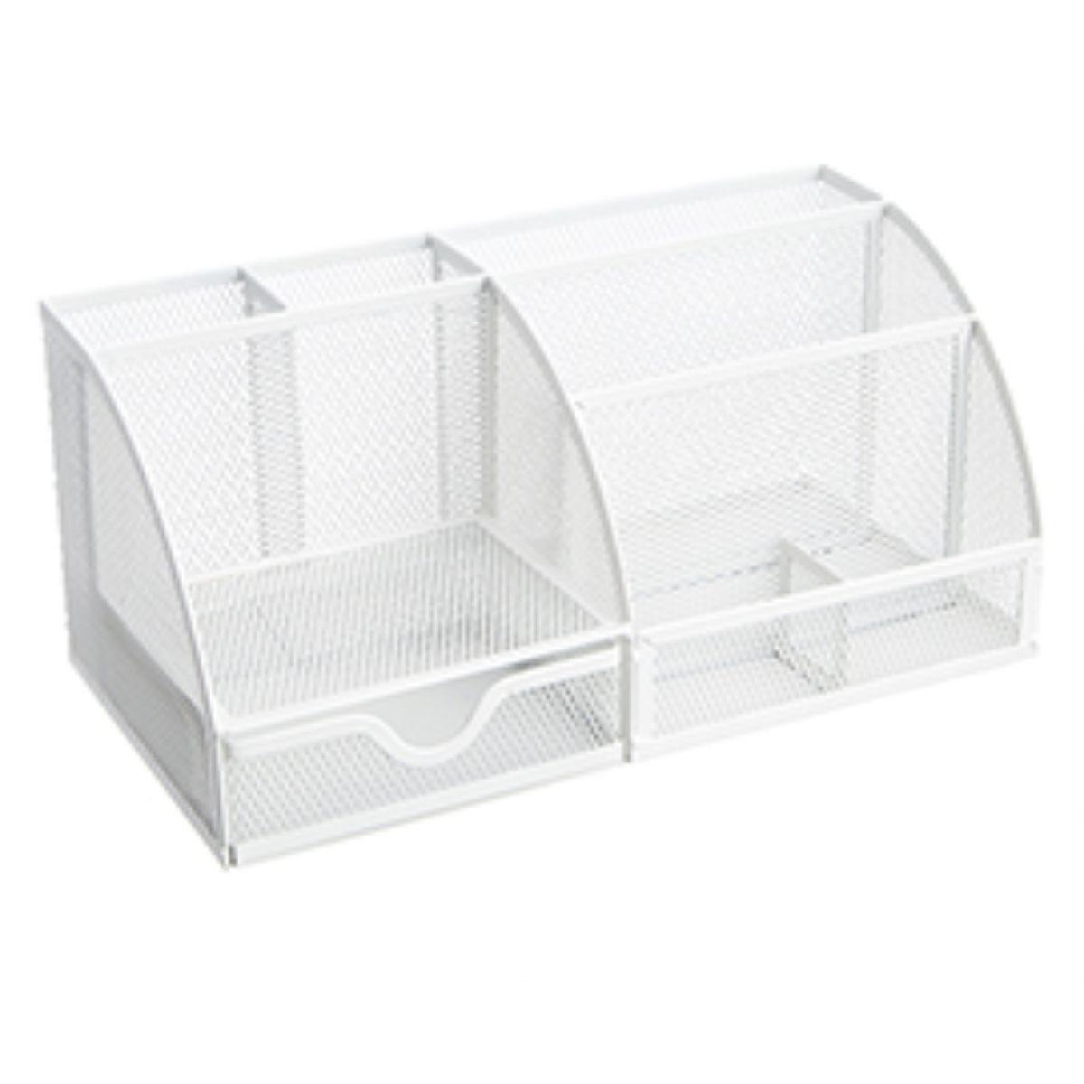 Osco Mesh Desk Organiser White