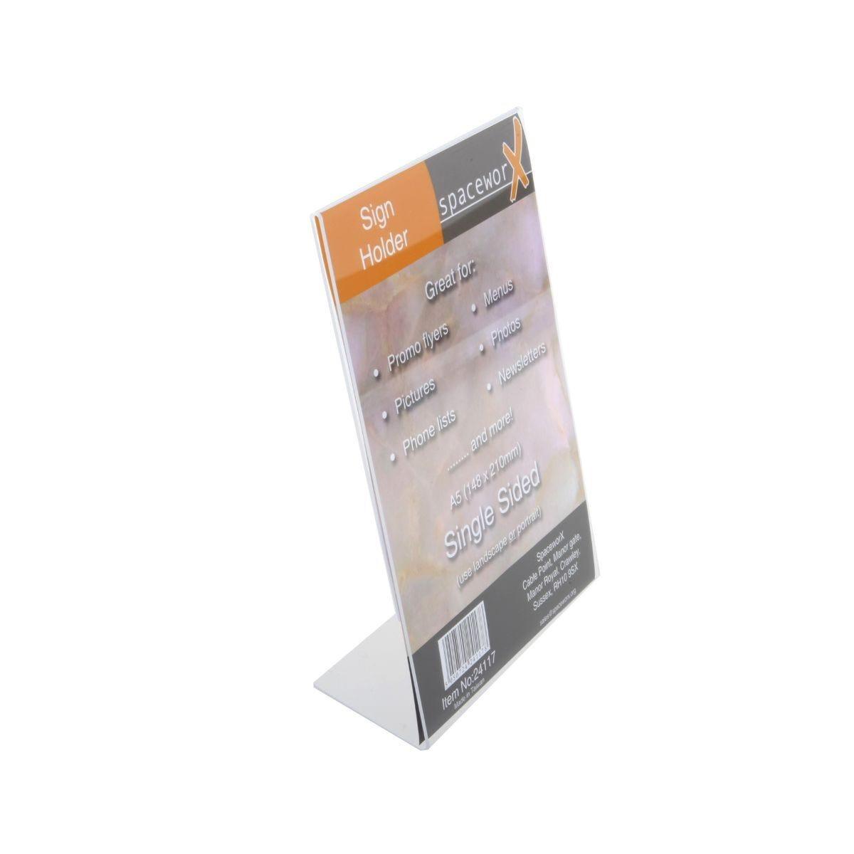 Deflecto Sign Holder A5 Acrylic