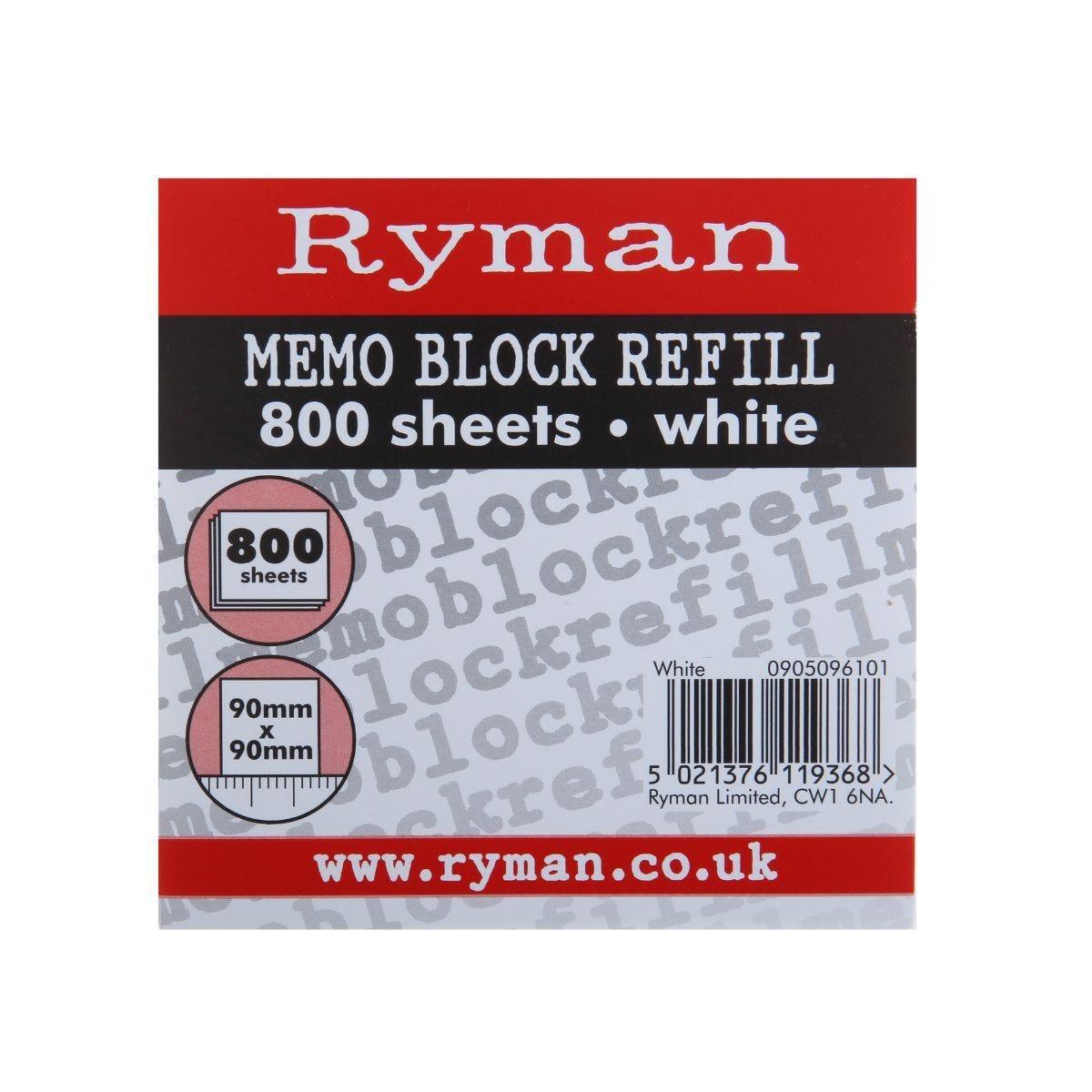 Ryman Paper Refill Block 75gsm 90x90 800 Sheets