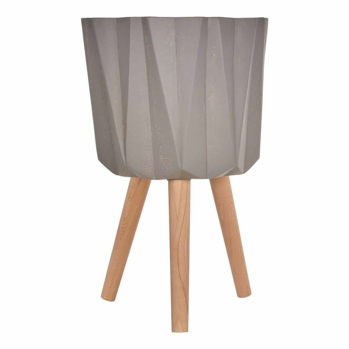 Interiors by PH Large Multi-Faceted Planter in Grey