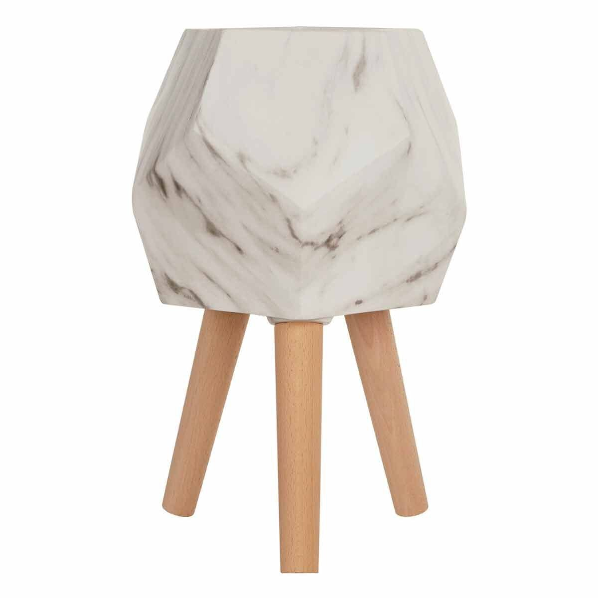 Interiors by PH Small Faux Marble Planter