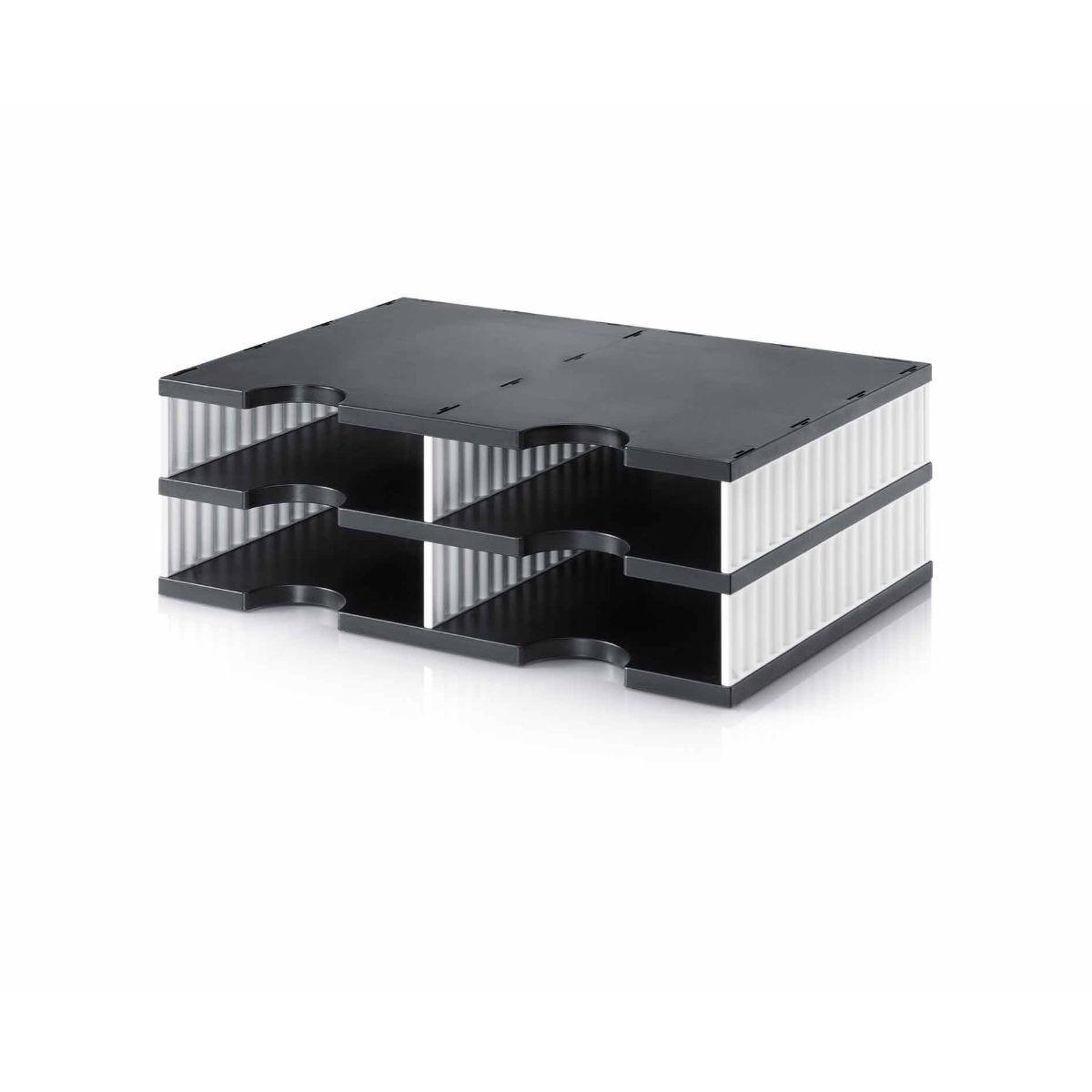 Styrodoc Duo Desktop Organiser 4 Drawer