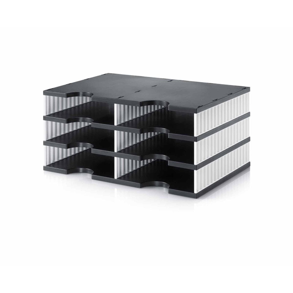 Styrodoc Duo Desktop Organiser 6 Drawer