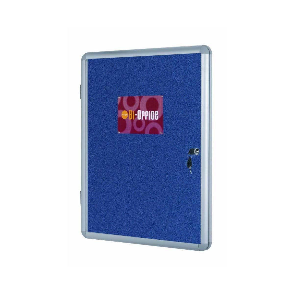 Bi-Office Display Case Felt Backed Lockable 600x450mm