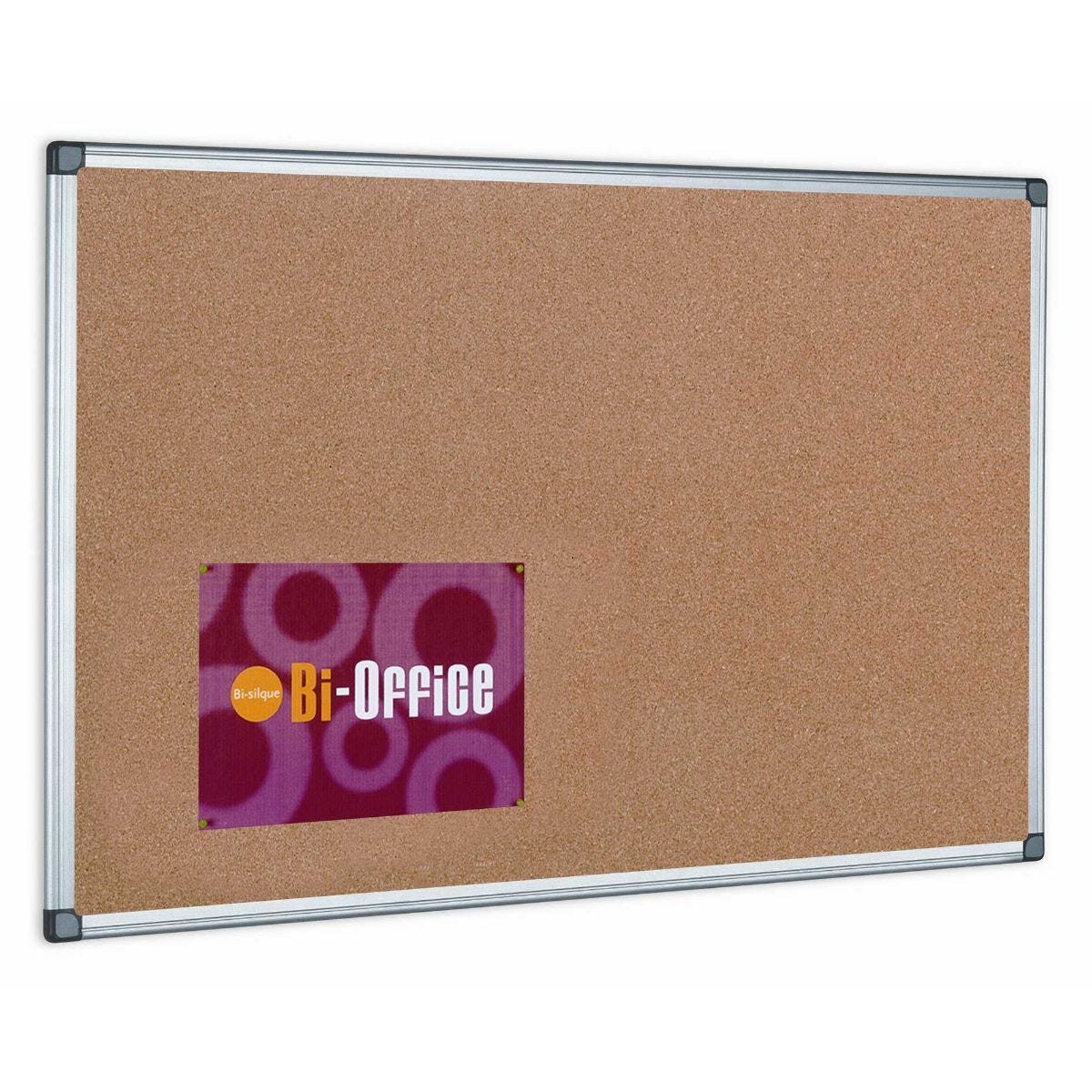 Bi-Office Cork Notice Board 600x450mm Aluminium