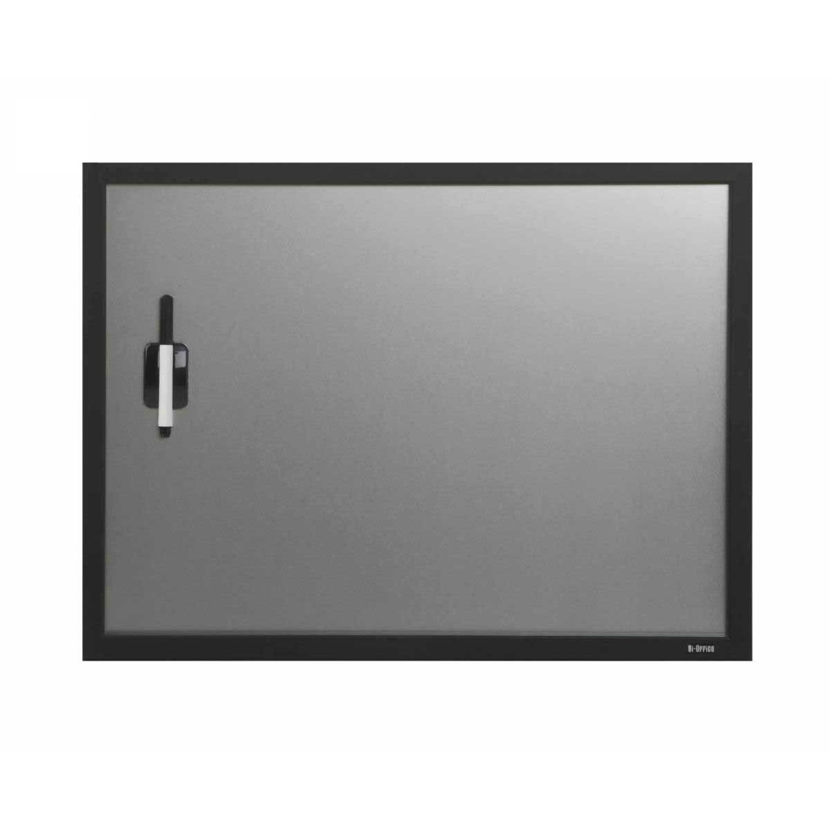 Bi-Office Magnetic Dry Wipe Board 600x450mm