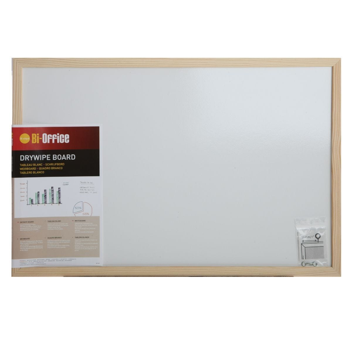 Dry Wipe Board with Pen 600x400mm