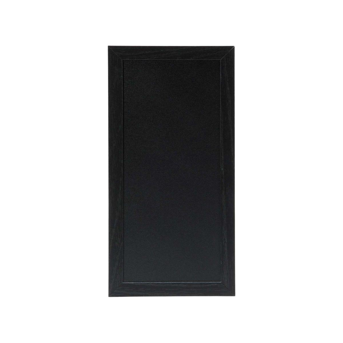 Securit Chalk Board with Black Frame - 20 x 40cm Black