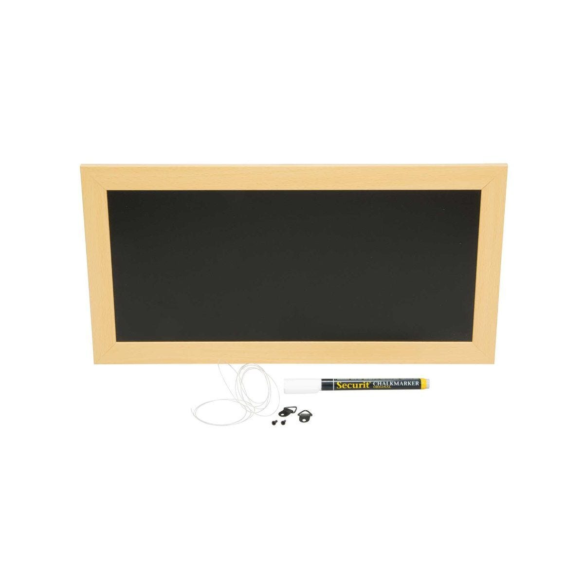 Securit Chalk Board with Black Frame - 30 x 40cm