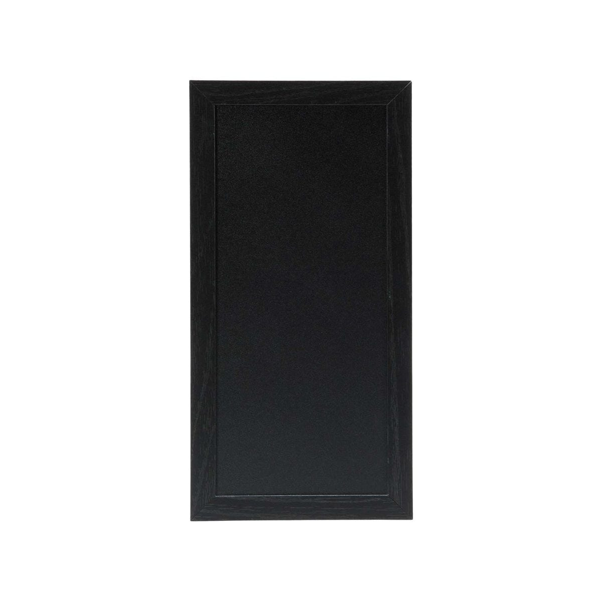 Securit Chalk Board with Black Frame - 20 x 40cm Teak