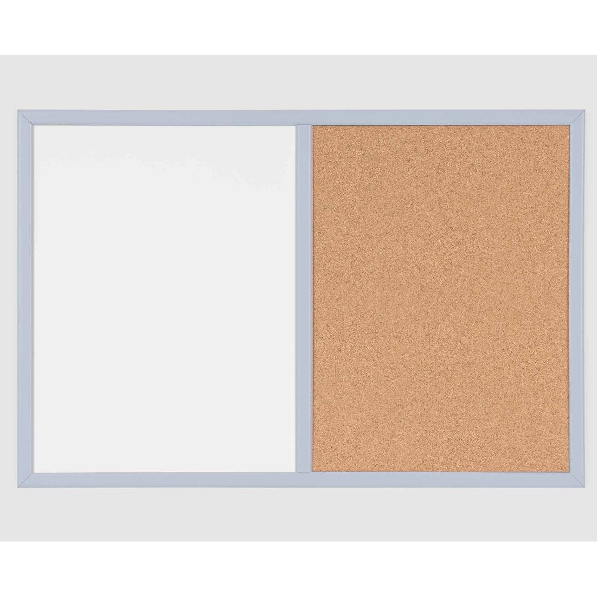 Dry Wipe Cork and Magnetic Combo Board Pastel Frame 600x400mm Blue