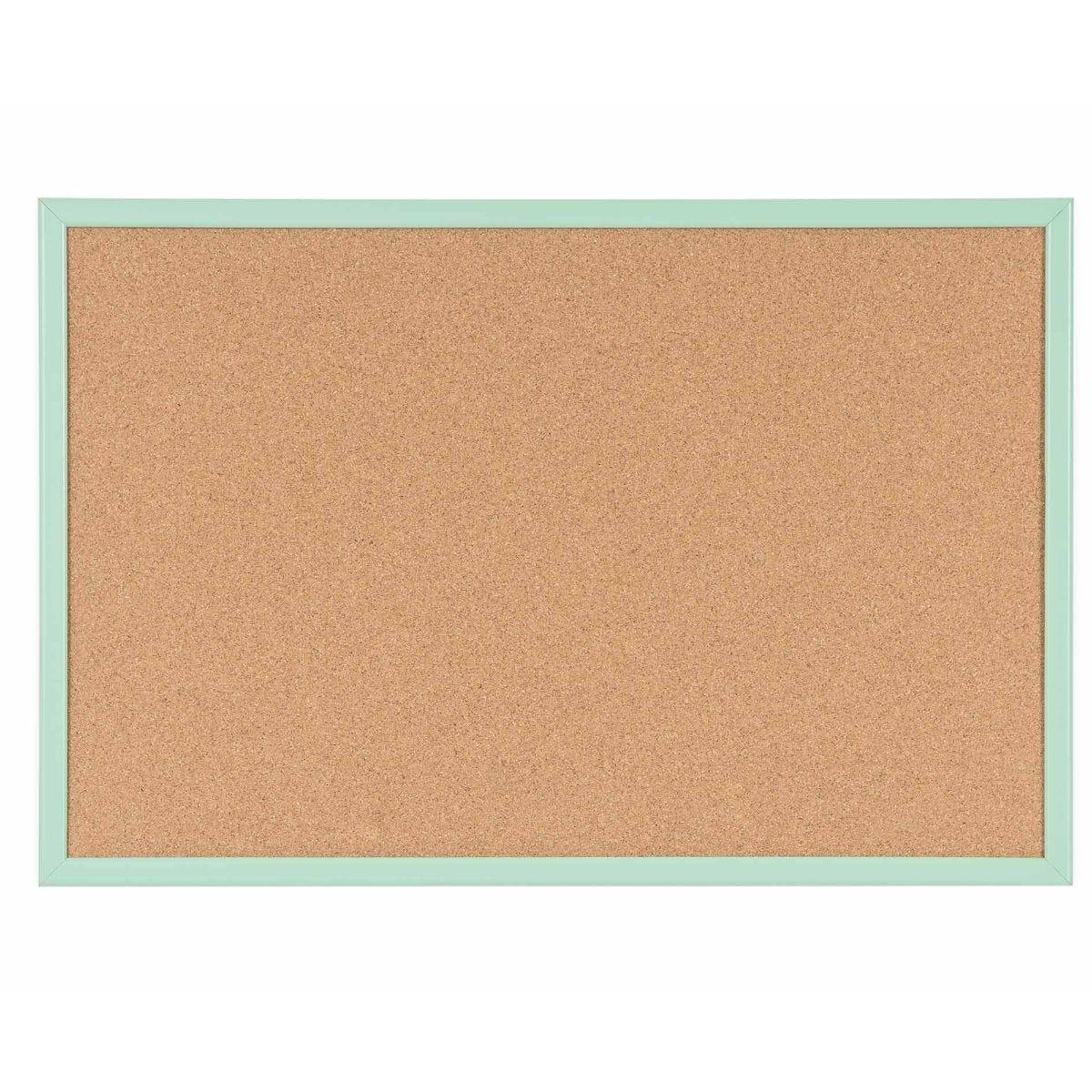 Cork Board Pastel Frame 600x400mm Green
