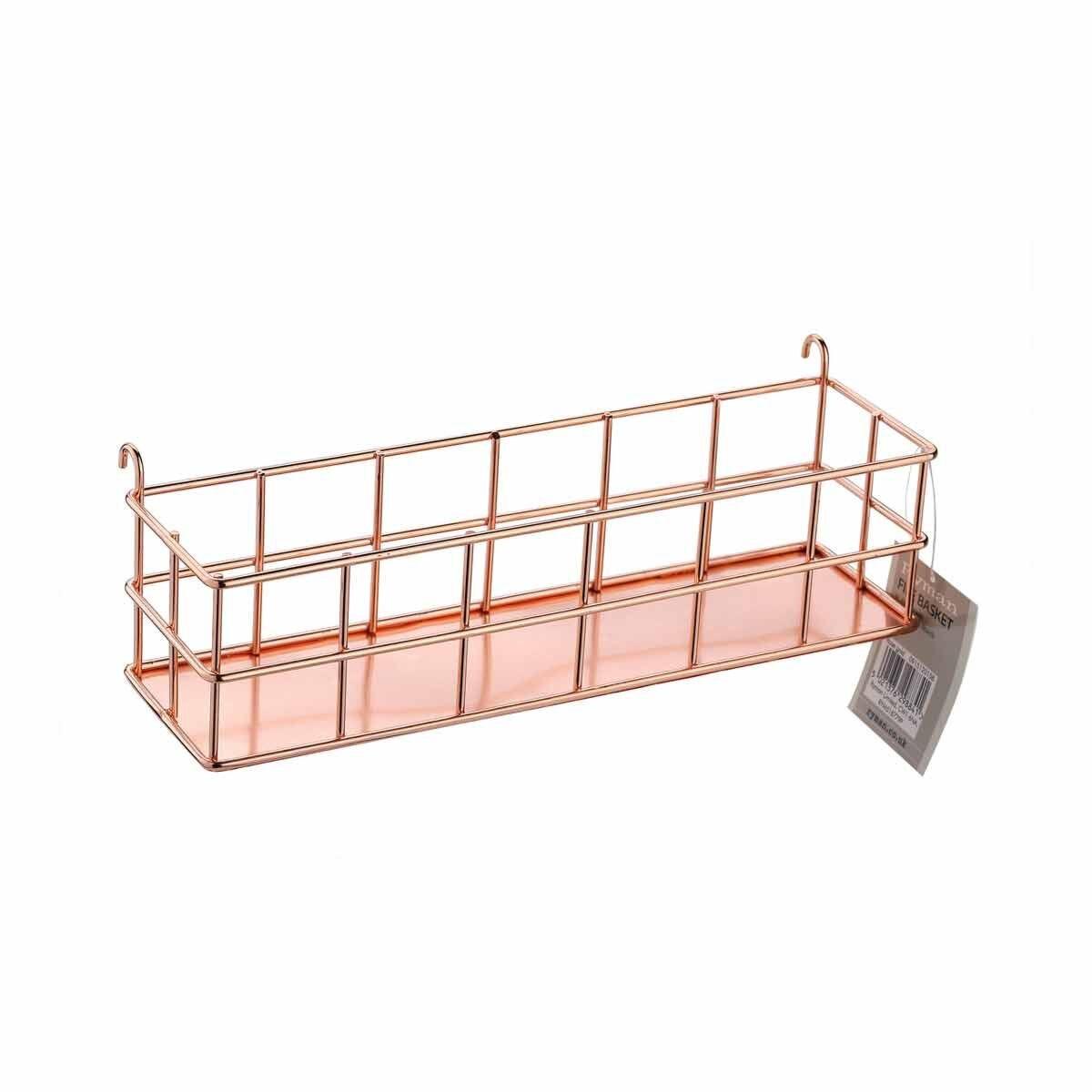 Ryman Memo Board Wire Basket Rose Gold