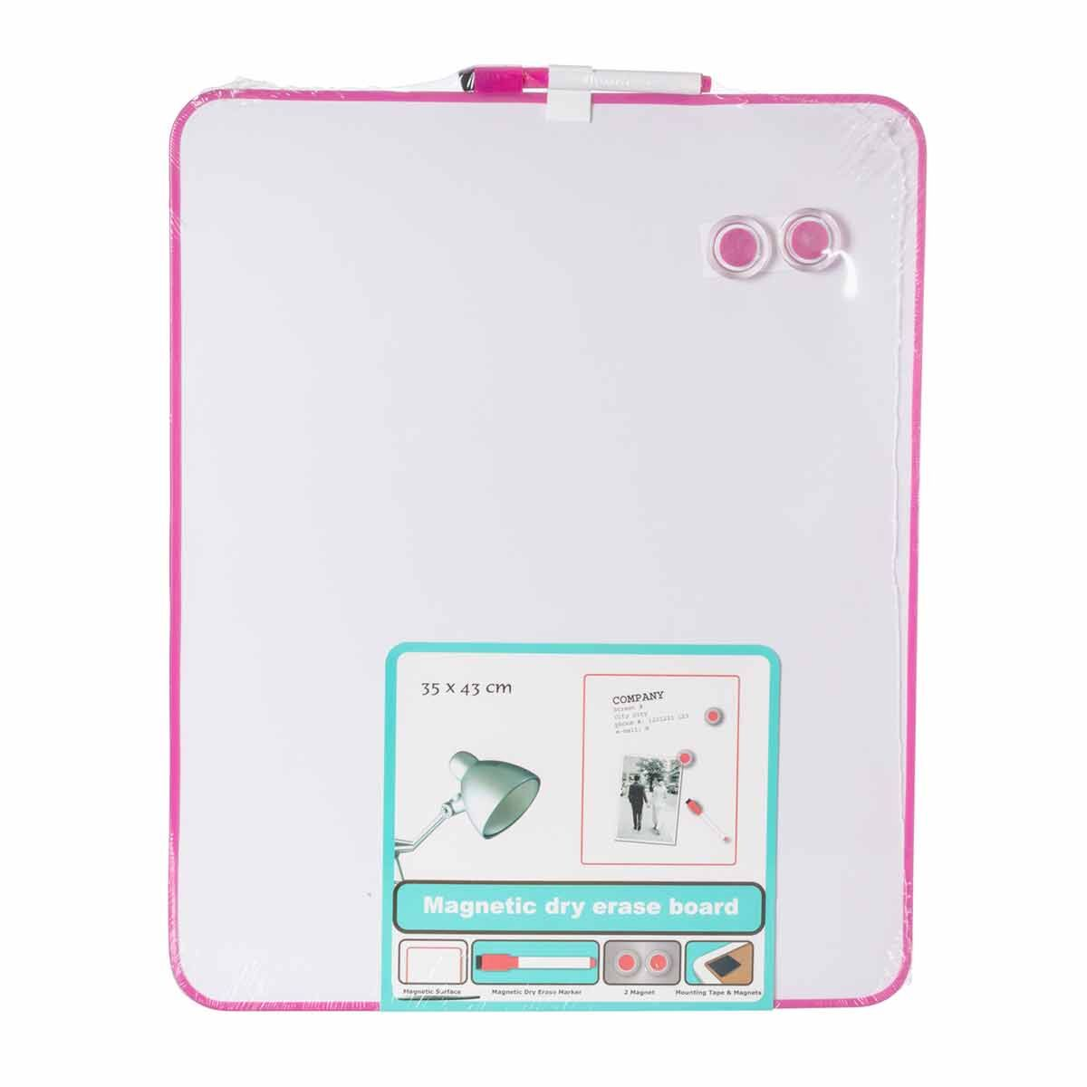 Magnetic Dry Erase Board 35x43cm Pink