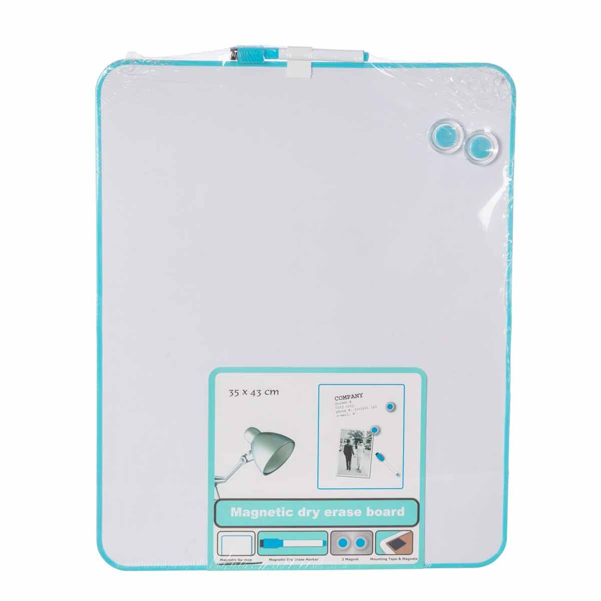 Magnetic Dry Erase Board 35x43cm Blue
