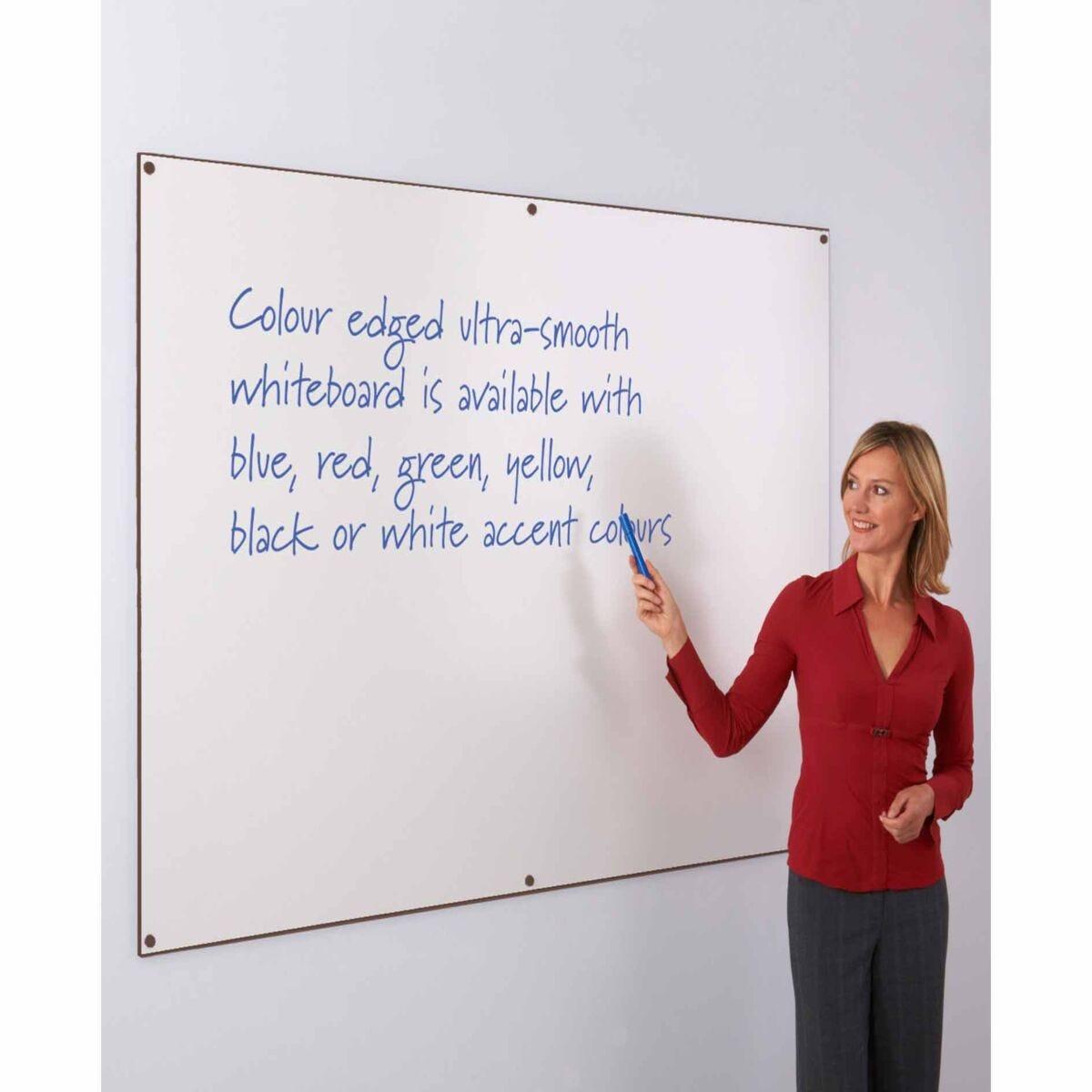 Metroplan WriteOn Coloured Edge Whiteboard 1200 x 1200mm