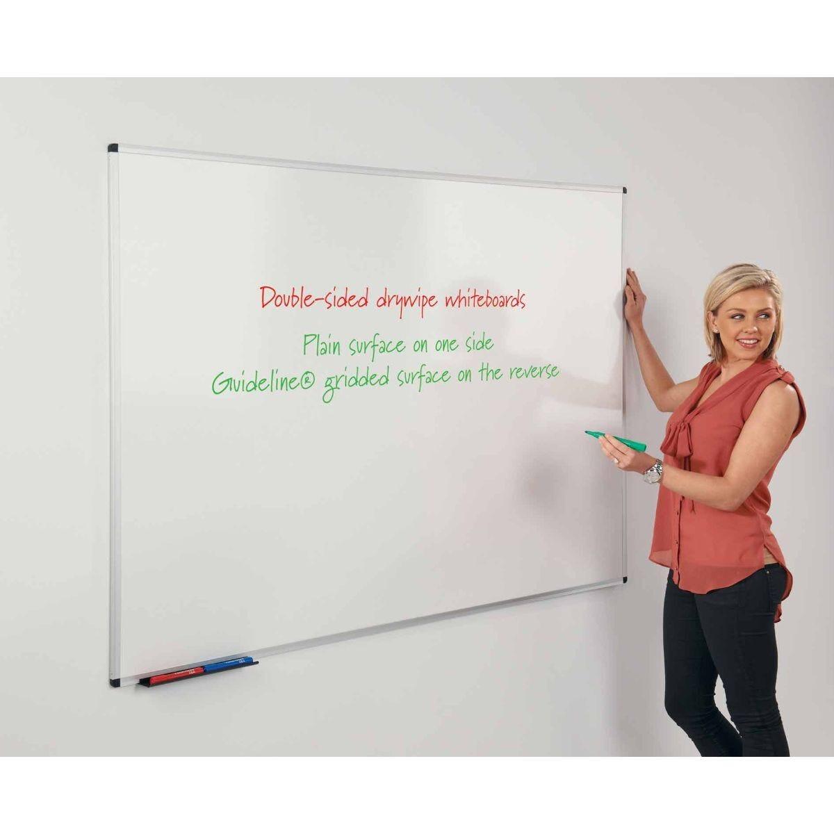 Metroplan WriteOn Dual Faced Whiteboard 1200 x 1800mm