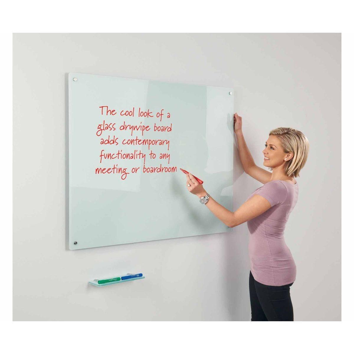 Metroplan WriteOn Glass Magnetic Whiteboard 1000 x 1500mm