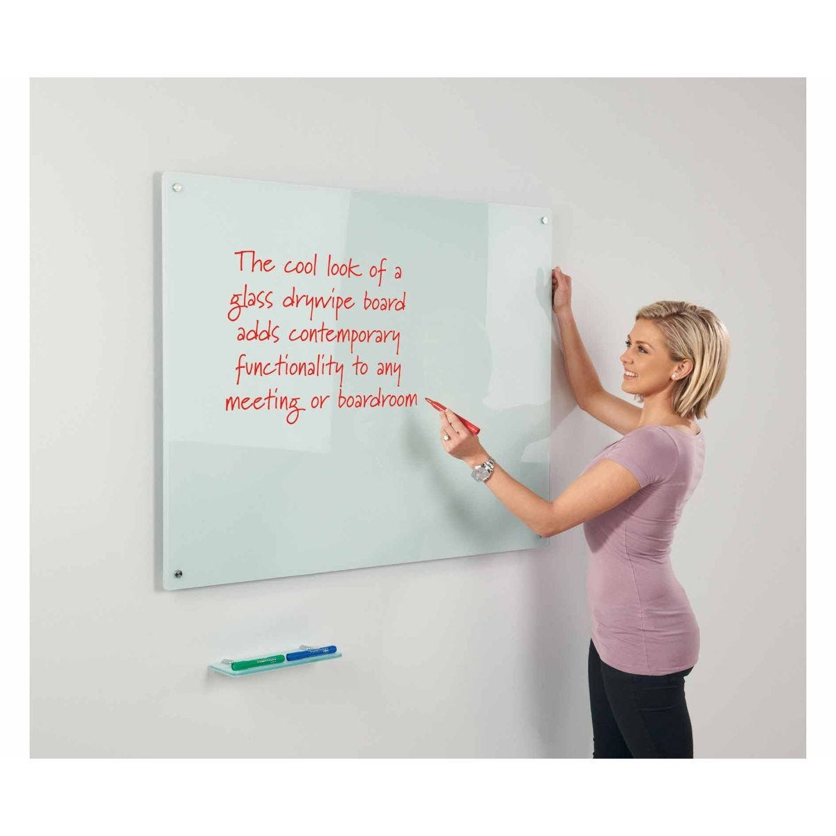 Metroplan WriteOn Glass Magnetic Whiteboard 1200 x 1800mm