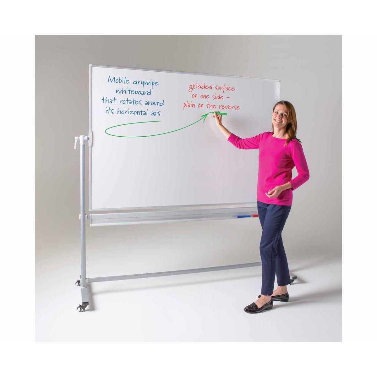 Metroplan WriteOn Revolving Whiteboard 1200 x 1500mm