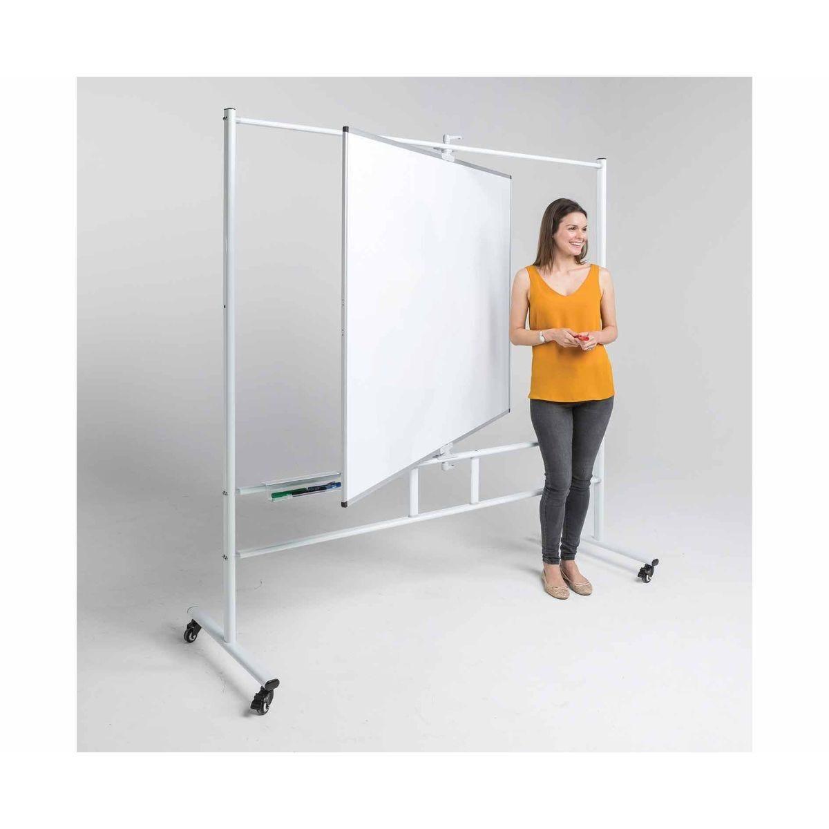 Metroplan WriteAngle Magnetic Revolving Whiteboard 900 x 1200mm