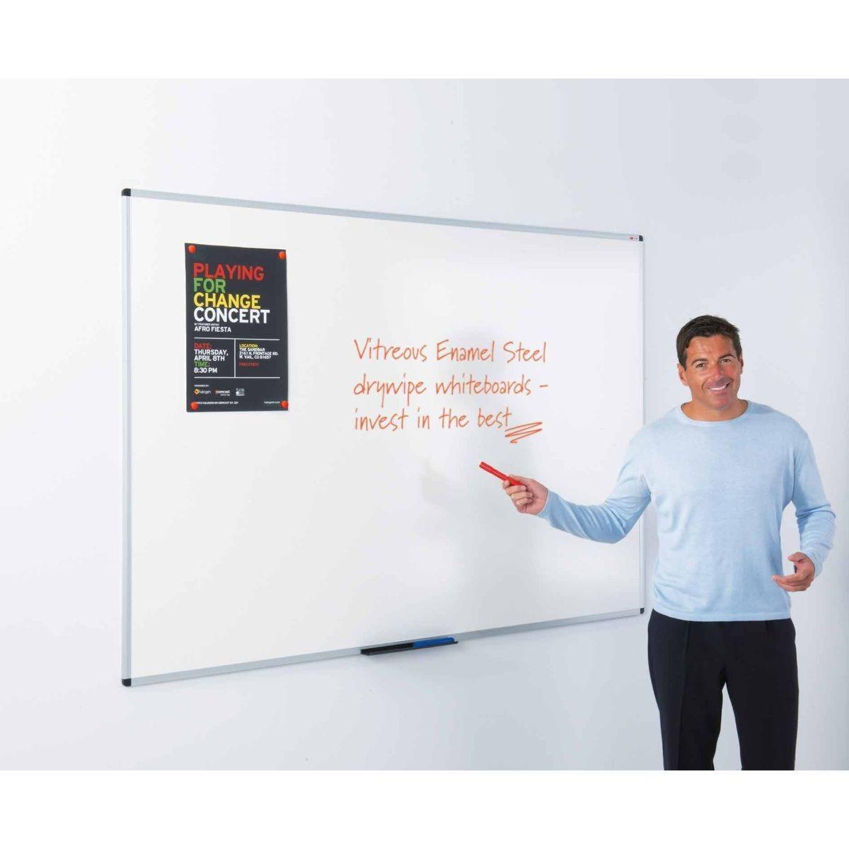 Metroplan WriteOn Vitreous Enamel Steel Whiteboard 450 x 600mm
