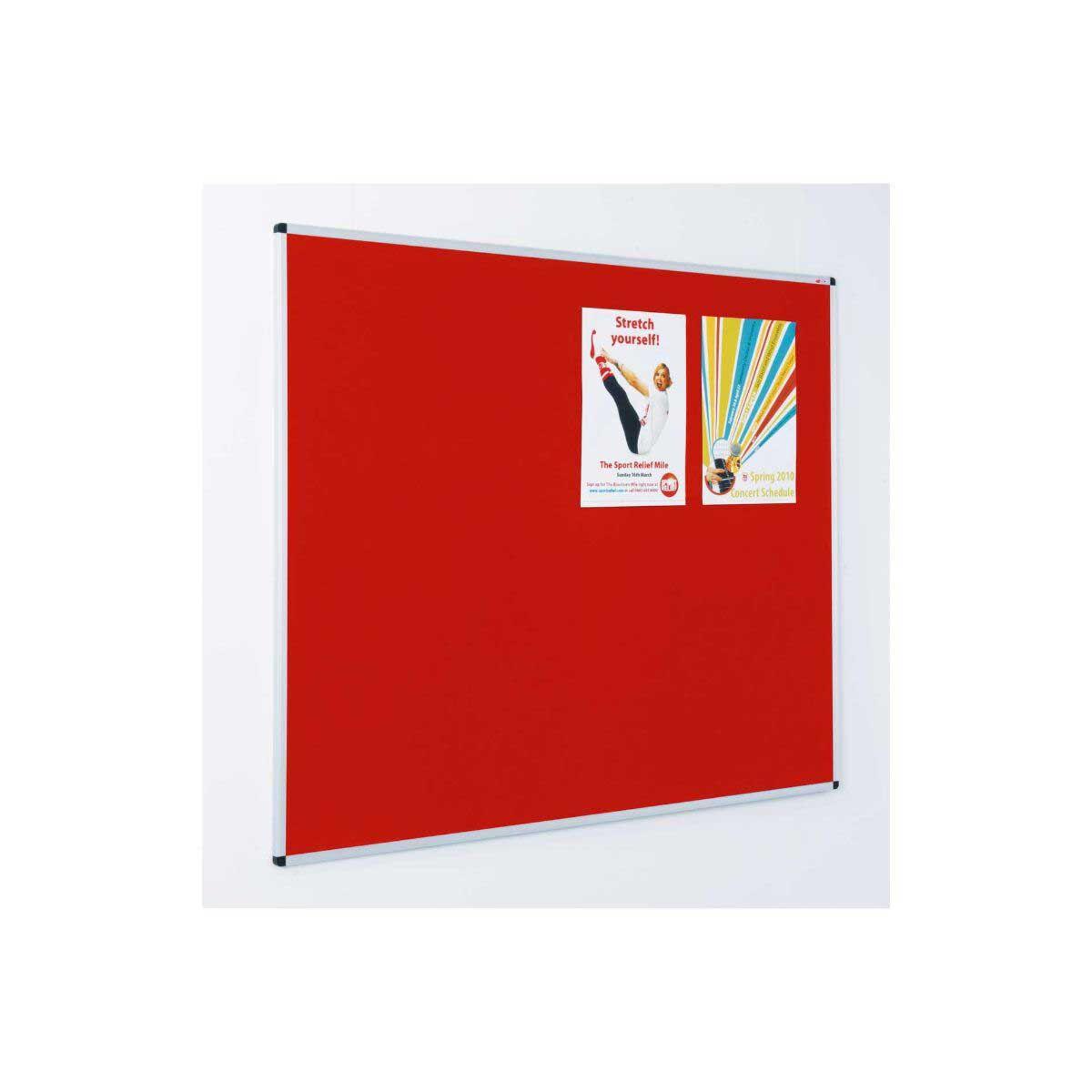 Resist-a-Flame Class B Aluminium Framed Noticeboard 1200x1800mm Crimson